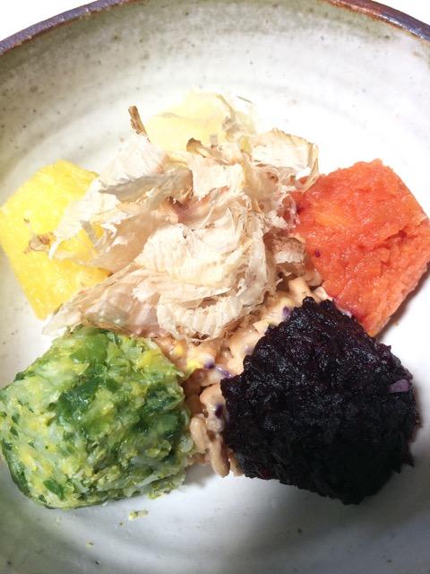 野菜ピューレと納豆