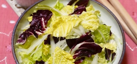 トレビス初収穫・・の日のサラダ